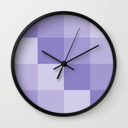 Four Shades of Lavender Square Wall Clock