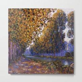 Paris, Moret Canal Autumn Foliage, French landscape by Francis Picabia Metal Print