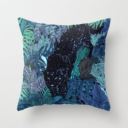 The Jungle at Night Colour Version Throw Pillow