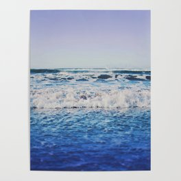 Indigo Waves Poster