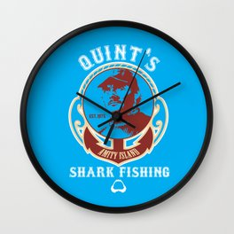 Quint's shark fishing Wall Clock