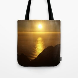 Sunset over the Canary islands Tote Bag