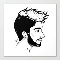 zayn Canvas Prints featuring Zayn by Julieta Cabrera
