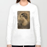 angelina jolie Long Sleeve T-shirts featuring Angelina Jolie Vintage ReplaceFace by Maioriz Home