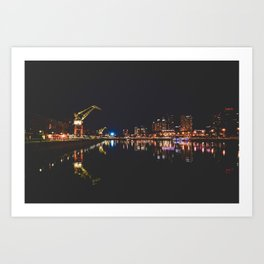Puerto Madero at night, Buenos Aires, Argentina. Art Print
