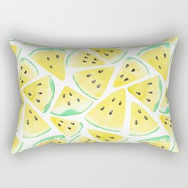 Yellow watermelon slices pattern Rectangular Pillow