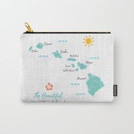 The Hawaiian Islands Carry-All Pouch