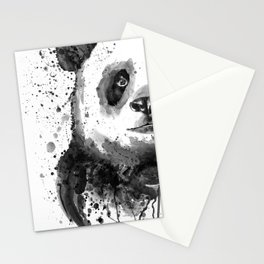 Black And White Half Faced Panda Stationery Cards