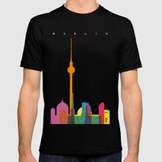 Shapes of Berlin accurate to scale Black MEDIUM Mens Fitted Tee