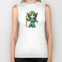 elf Biker Tanks featuring Elf by HOVERFLYdesign