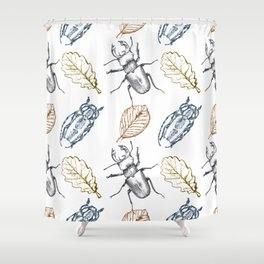 Bugs and leaves Shower Curtain