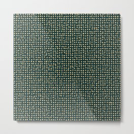 Gold dots on dark green - soft pastel Metal Print