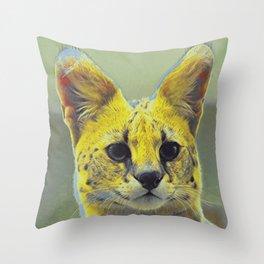 Serval IV Throw Pillow