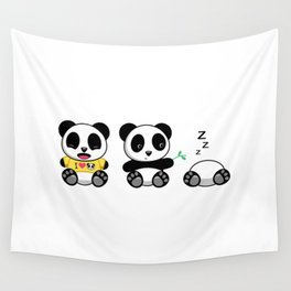 Three Little Pandas Wall Tapestry