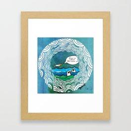home is where the ocean is Framed Art Print