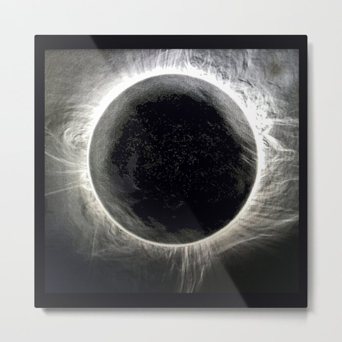 SOLAR ECLIPSE 2017 TWO MINUTES OF WONDER Metal Print