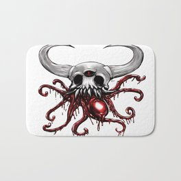 Bloody Skull Bath Mat