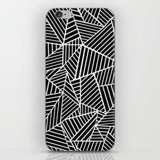 Ab Lines Black on White iPhone Skin
