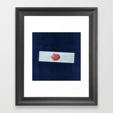 Blood slide Framed Art Print