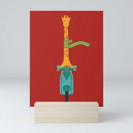 Scooter - ing around Mini Art Print