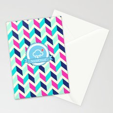 SocialCloud Pattern Stationery Cards