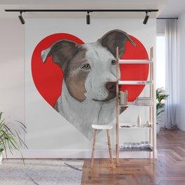 Pit Bull Heart Wall Mural