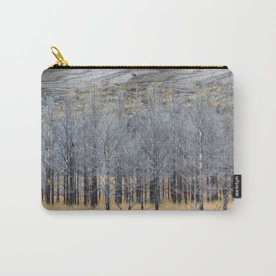 Wood on wood Carry-All Pouch