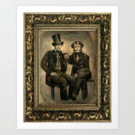 Two Daguerreotype Bros Art Print