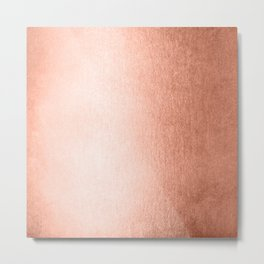 Simply Sweet Peach Coral Shimmer Metal Print