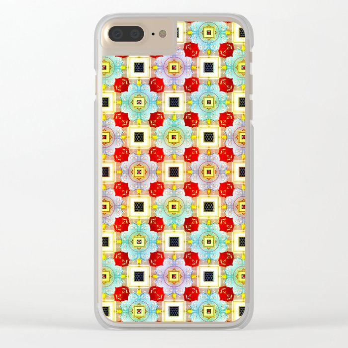 Embellecimiento Pattern Clear iPhone Case