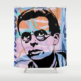 Aldous Huxley - Berlin Wall Shower Curtain