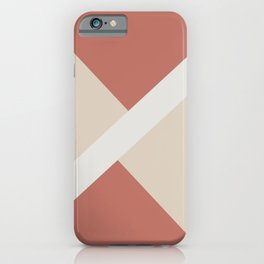 Beige White Dark Peach Stripe Offset Shape Design 2021 Color of the Year Uptown Ecru & Accent Shade iPhone Case
