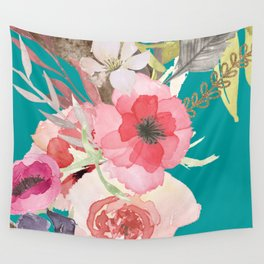 Flowers , floral , shabby chic décor,  flower decor , Wall Tapestry