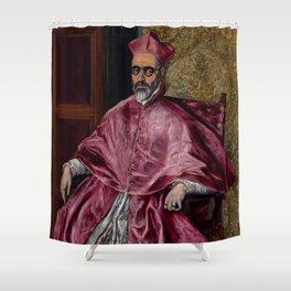 """El Greco (Domenikos Theotokopoulos) """"Cardinal Fernando Niño de Guevara"""" Shower Curtain"""