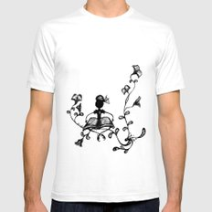 Tree of books SMALL White Mens Fitted Tee