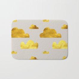 Gold Clouds Bath Mat