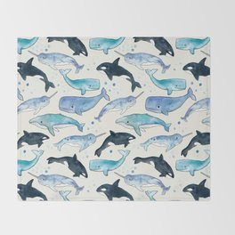 Whales, Orcas & Narwhals Throw Blanket
