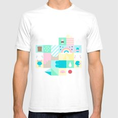 For Japan with love 3 SMALL White Mens Fitted Tee