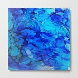 Blue Petunias Metal Print