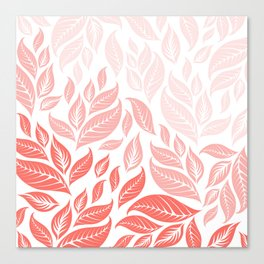 LIVING CORAL LEAVES 3 Canvas Print
