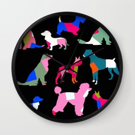 Doggy Tails Wall Clock