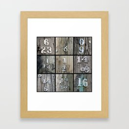 Hydro Pole Numbers Framed Art Print