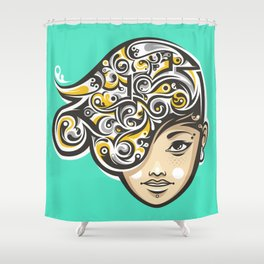 Swirly thoughts Shower Curtain