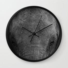 Elephant head - Africa wildlife Wall Clock