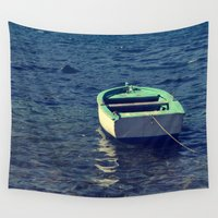 boat Wall Tapestries featuring boat by gzm_guvenc