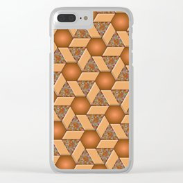 Geometrix VIII Clear iPhone Case