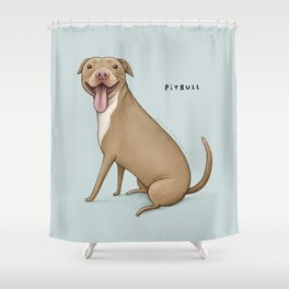 Pitbull Shower Curtain