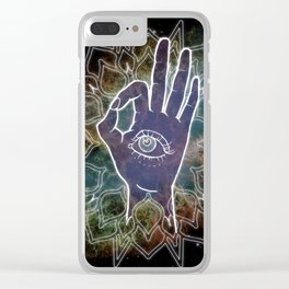 Gyan Mudra Hand Posture Clear iPhone Case