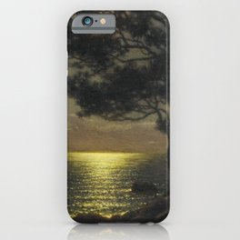Classical Masterpiece 'Moonlit Coast' by Ivan Fedorovich Choultsé iPhone Case