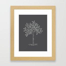 swirl tree Framed Art Print